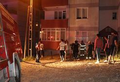 Zonguldak'ta bir kadın ayrı yaşadığı eşinin evini çilingirle açtırıp ateşe verdi