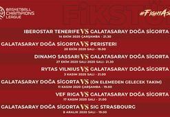 Galatasarayın FIBA Şampiyonlar Ligi fikstürü belli oldu