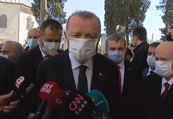 Cumhurbaşkanı Erdoğan ve Devlet Bahçeli Fatihin türbesini ziyaret etti