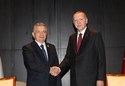 Son dakika... Cumhurbaşkanı Erdoğan, Özbek mevkidaşıyla görüştü
