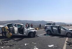 Bingölde feci kaza 2 ölü, 5 yaralı