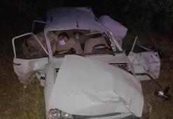 Şanlıurfada otomobil şarampole devrildi: 1 ölü, 4 yaralı