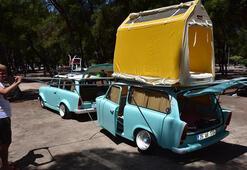 Klasik otomobilini çekme karavana dönüştürdü Gören bir daha baktı