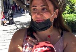 Kadın cinayetleri için düzenlenen protestoyu gördü Gözyaşlarını tutamadı