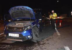 Kütahyada iki araç çarpıştı: 5 yaralı