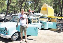 Klasik araba karavan oldu...