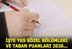 YKS 4 yıllık sözel bölüm taban puanları 2020 için TIKLA YKS sözel bölümleri ve başarı sıralamaları 2019 listesi...