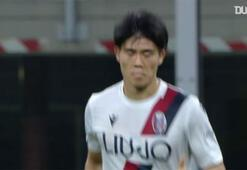 Takehiro Tomiyasunun Bologna formasıyla attığı ilk gol...