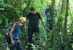 Uludağa tırmandı, yükseklik korkusu nedeniyle mahsur kaldı