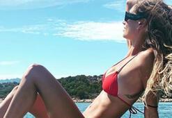 Boatengin eşi Melissa Satta formunu koruyor...