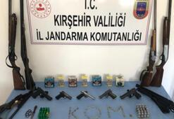 Kırşehirde silah ticaretine 6 gözaltı
