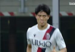 Takehiro Tomiyasunun Bologna formasıyla attığı ilk gol