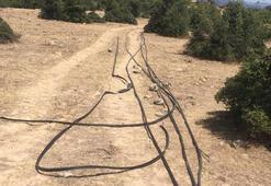 Çanakkalede 930 bin TLlik kablo çalan 3 kişi yakalandı