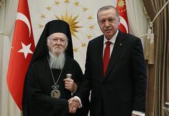 Son dakika haberi... Fener Rum Patriğinden Cumhurbaşkanı Erdoğana teşekkür telefonu