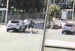 Esenyurtta lüks otomobil çöp toplayıcısına çarptı
