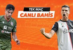 Cagliari - Juventus maçı Tek Maç ve Canlı Bahis seçenekleriyle Misli.com'da