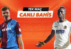Trabzonspor - Alanyaspor maçı Tek Maç ve Canlı Bahis seçenekleriyle Misli.com'da