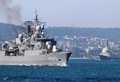 Savaş gemileri peş peşe Boğazdan geçti