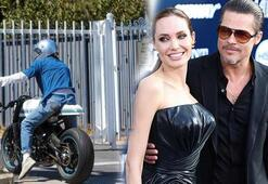 Brad Pitt yine Angelina Jolienin evinde görüntülendi