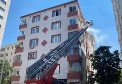 Kadıköyde 5 katlı binada yangın paniği