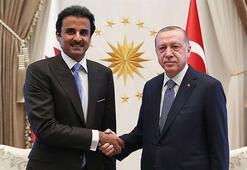 Son dakika haberi... Cumhurbaşkanı Erdoğan, Katar Emiri ile görüştü