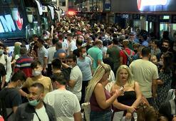 İstanbul Otogarında bayram yoğunluğu Akın ettiler