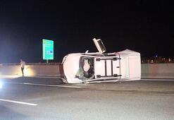 Yolcu otobüsüyle çarpışan kamyonetteki 5 kişi yaralandı