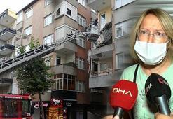 Küçükçekmecede bir dairenin balkonu çöktü Altından geçen kadın son anda kurtuldu