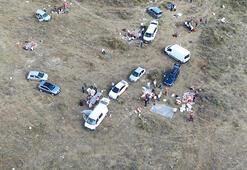 Küçükçekmecede kaçak kesimler havadan fotoğraflandı