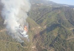 Manisada orman yangını Ekipler oraya koştu