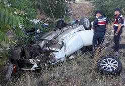 Kırıkkalede otomobil takla attı: 5 yaralı