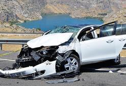 Şanlıurfada otomobil takla attı Ölü ve yaralılar var