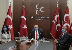 MHPde partiler arası bayramlaşma videokonferansla yapıldı