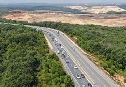 İstanbullular Şileye akın etti Kilometrelerce araç kuyruğu oluştu