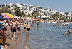 Bodrumda bayramın ikinci gününde plajlar doldu