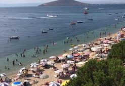 Avşa Adasında bayram yoğunluğu Akın ettiler