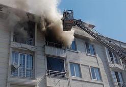 Son dakika Esenyurtta 4 katlı binada yangın