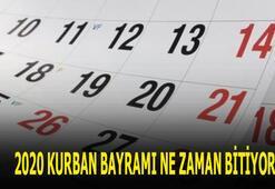 Kurban Bayramı bitiş tarihi 2020 Bayram tatili ne zaman bitiyor, ayın kaçında, hangi gün