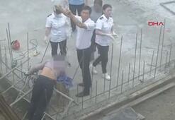 Boynuna ve göğsüne çelik çubuk saplandı