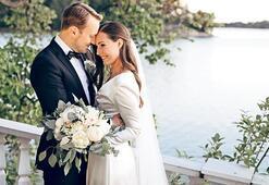 En genç  başbakan  evlendi
