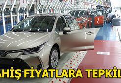 Toyota fahiş fiyatlara tepkili
