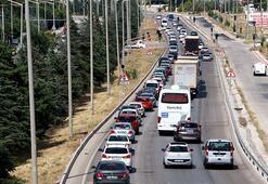 Burdur- Ankara yolunda bayram trafiği
