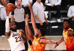NBAde Lakers, Jazzı yenerek Batı Konferansı liderliğini garantiledi