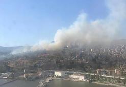 Son dakika... İzmir'de askeri alanda yangın