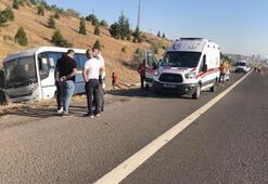 Başkentte feci kaza Yolcu otobüsü Aselsan personelini taşıyan minibüse çarptı