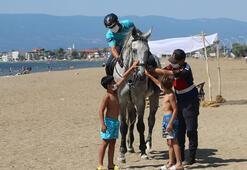 Bursanın sahilleri atlı jandarma timlerine emanet