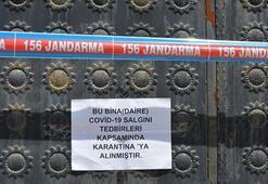 Gaziantepte 9 ev karantinaya alındı