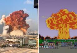 Simpsonlar nedir Simpsonlar dizisi Lübnandaki patlamayı bildi mi