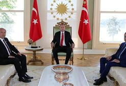 Cumhurbaşkanı Erdoğan, KKTC Başbakanı Tatarı kabul etti