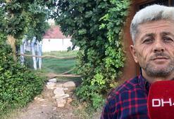 Komşusu 'tapulu arazim' diyerek evinin yolunu kapattı